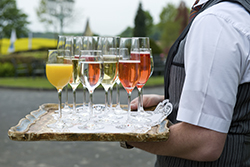Waiter Carrying Wine Champagne